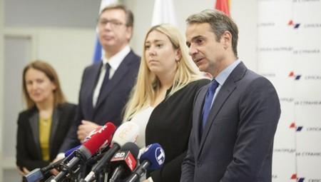 Συνάντηση Μητσοτάκη με τον πρόεδρο της Σερβίας