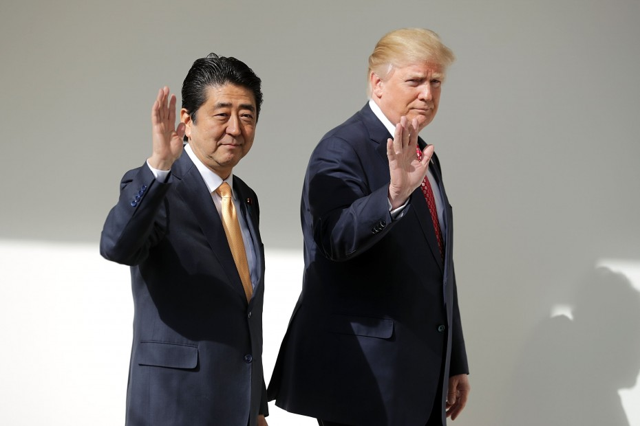 President Trump Holds Joint Press Conference With Japan Prime Minister Shinzo Abe