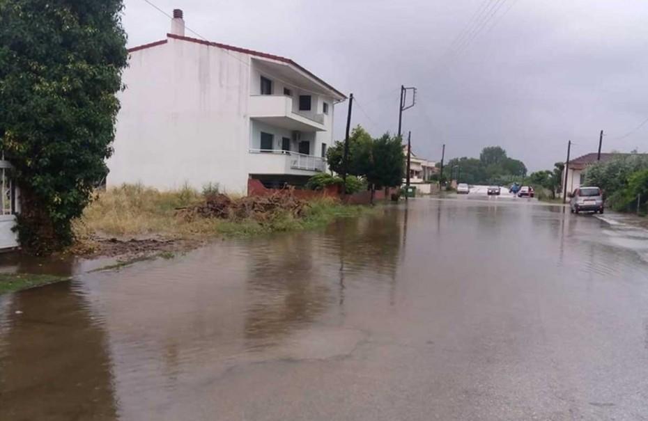 Πλημμύρες σε Χρυσούπολη και γύρω χωριά