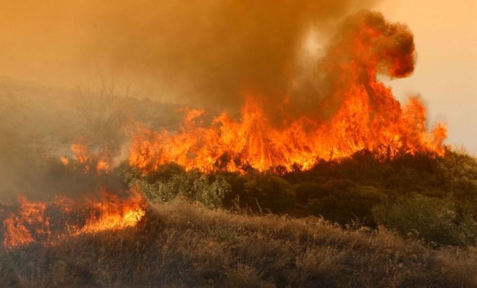 Πυρκαγιά στη Σητεία