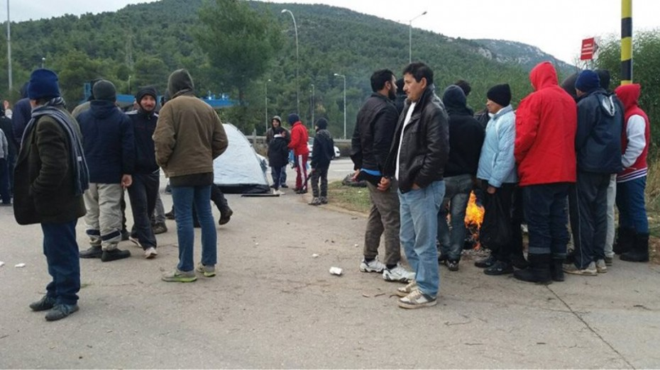 Ολοκληρώθηκε η διαμαρτυρία των προσφύγων στη Μαλακάσα