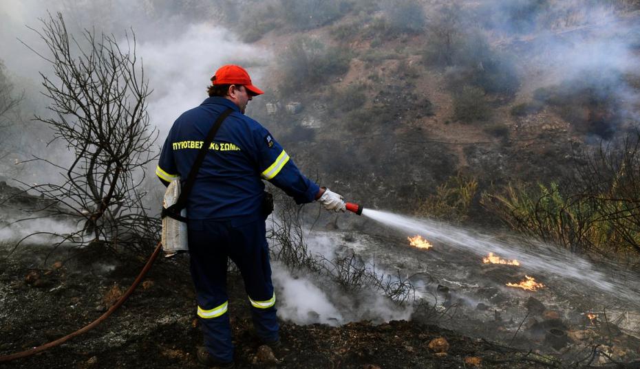 Καλύτερη η εικόνα από την πυρκαγιά στην Κέρκυρα