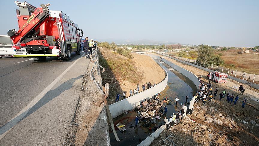 Τουρκία: 19 νεκροί από ανατροπή λεωφορείου στη Σμύρνη