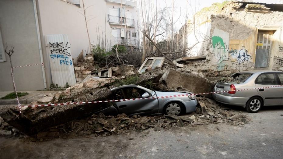 Παρ' ολίγον τραγωδία στο Γκάζι από κατάρρευση σπιτιού