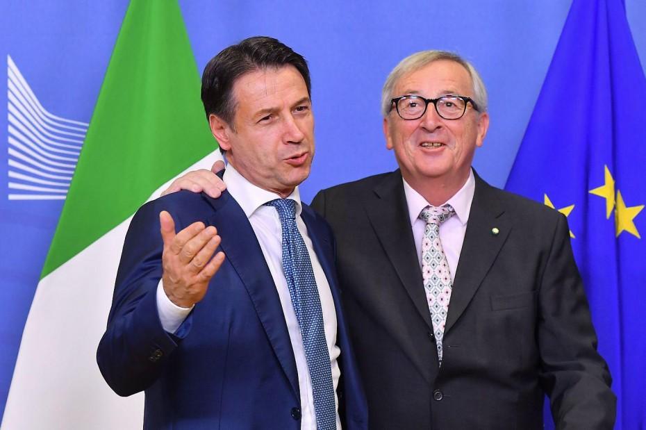 Γιούνκερ και Κόντε τα λένε και πάλι για την Ιταλία