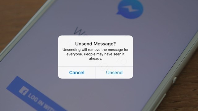 «Unsend» και στο Messenger