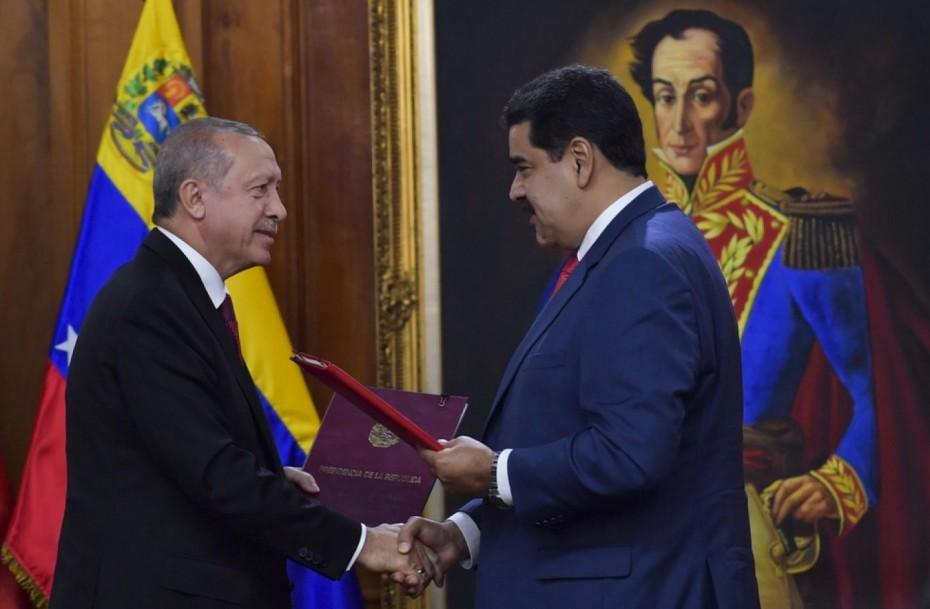 Ο Ερντογάν δίνει στον Μαδούρο βοήθεια για το χρυσό της Βενεζουέλας
