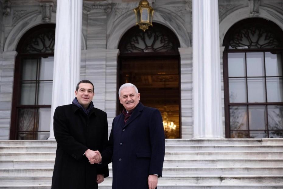 Συνάντηση Τσίπρα με τον πρώην πρωθυπουργό της Τουρκίας, Μπιναλί Γιλντιρίμ