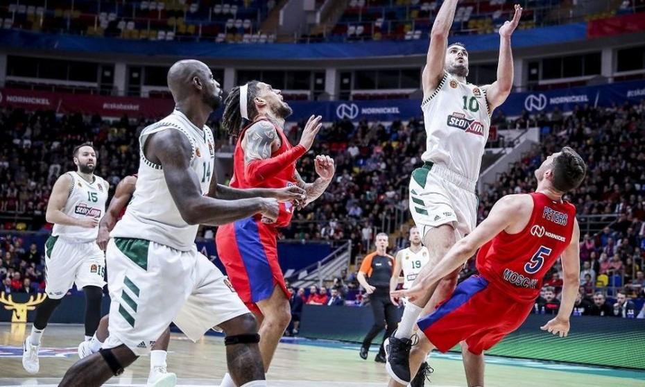 Euroleague: Τεράστια νίκη του Παναθηναϊκού επί της ΤΣΣΚΑ στη Μόσχα