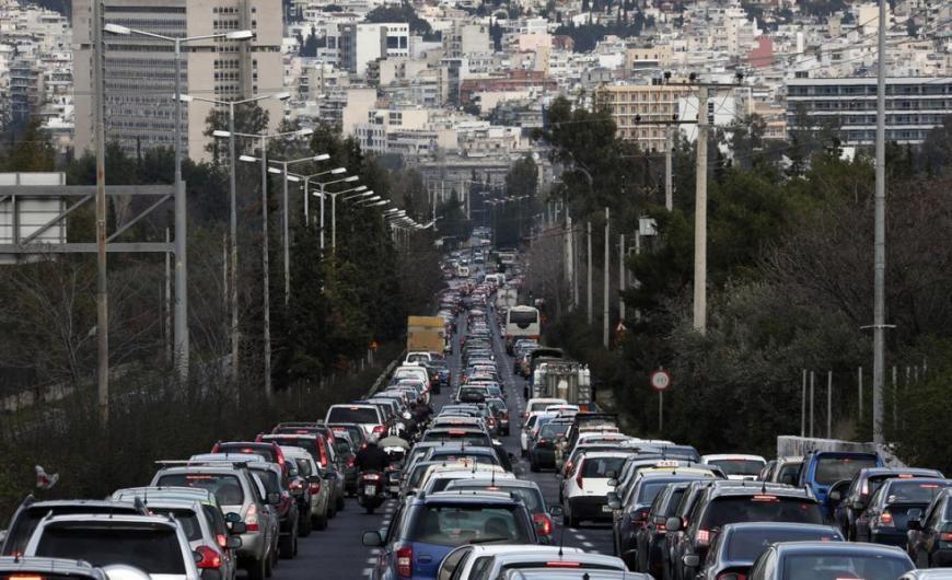 Κυκλοφοριακό κομφούζιο στην Αθήνα