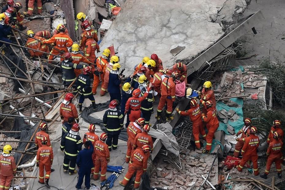 Επτά νεκροί από κατάρρευση κτηρίου στη Σαγκάη