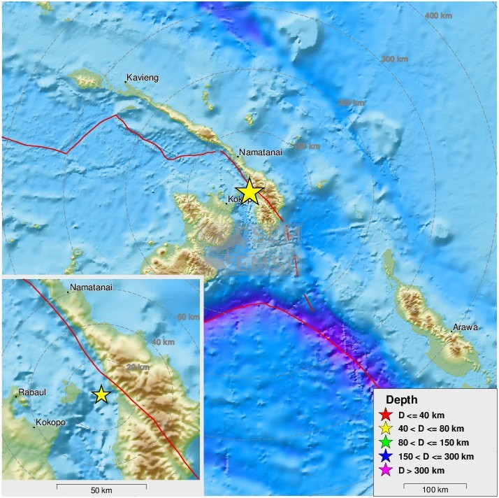 7,6 ρίχτερ ταρακούνησαν τη Νέα Γουινέα - Προειδοποίηση για τσουνάμι