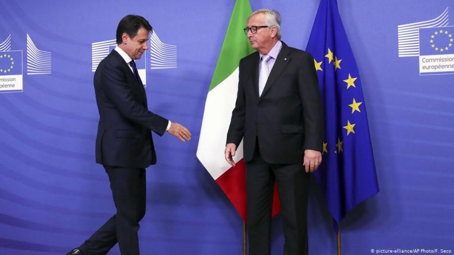 Ο Γιούνκερ και πάλι κατά της Ιταλίας για τα δημοσιονομικά