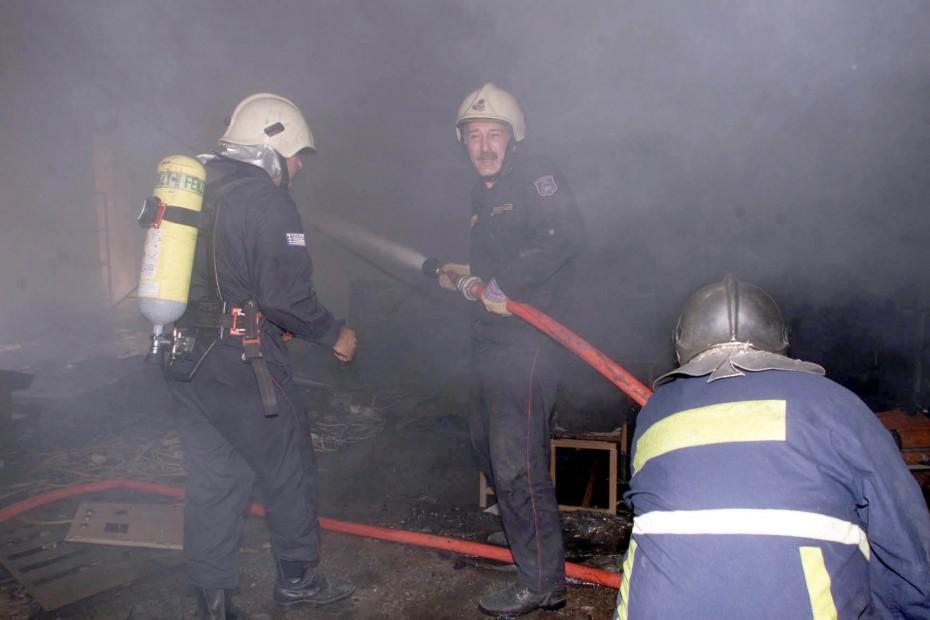 Πυρκαγιά σε βιοτεχνία στο Σχηματάρι