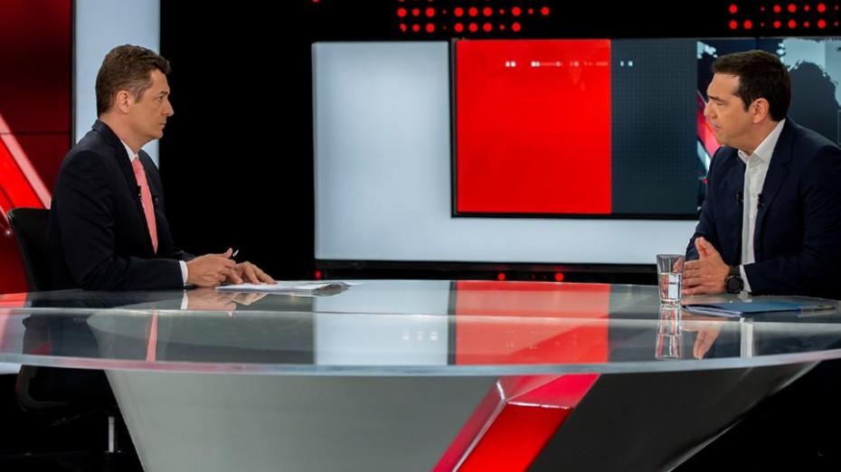Συνέντευξη Τσίπρα στο δελτίο ειδήσεων του Alpha την Τετάρτη