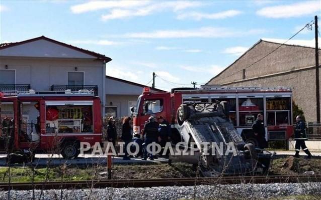 Σύγκρουση τρένου με ΙΧ στη Φλώρινα - Απεγκλωβίστηκε ο οδηγός