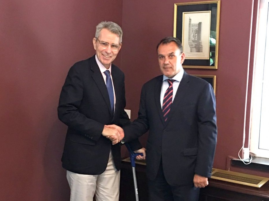 Η πρώτη συνάντηση Παναγιωτόπουλου με τον Αμερικανό πρέσβη
