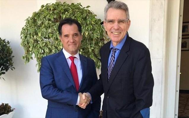 Ικανοποίηση Γεωργιάδη μετά από τη συνάντηση με τον Αμερικανό πρέσβη