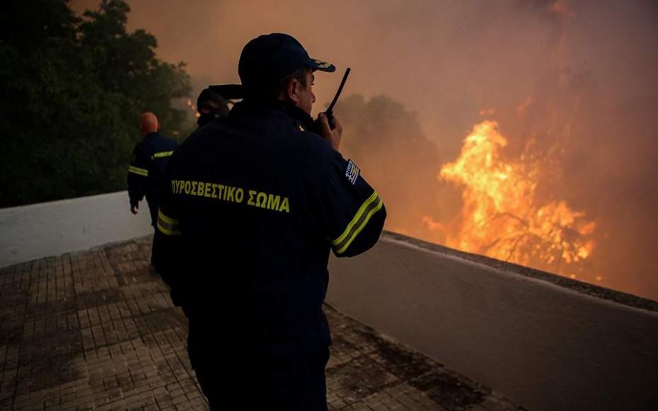 Εύβοια: Τραυματίστηκε πυροσβέστης