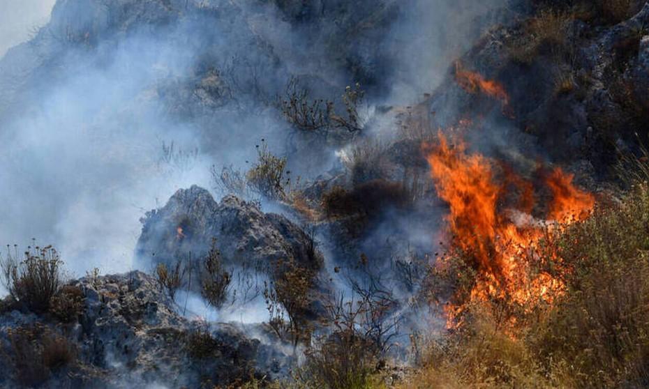 Στάχτη κι αποκαϊδια στο Ρέθυμνο - Υπό έλεγχο η φωτιά στην περιοχή Λευκόγεια