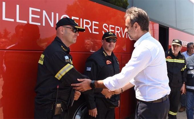 Μητσοτάκης από Εύβοια: Άμεσα η καταγραφή των ζημιών από την πυρκαγιά