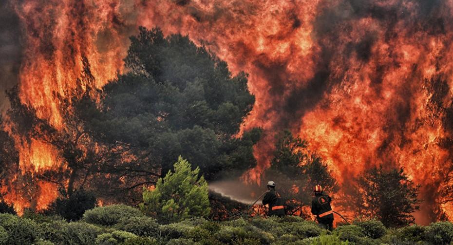 Μεγάλες πυρκαγιές σε Κέρκυρα και Θεσπρωτία