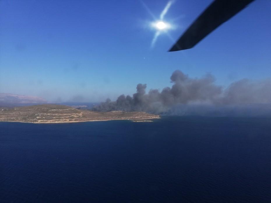 Το ΓΕΣ για την αντιμετώπιση της πυρκαγιάς στην Εύβοια