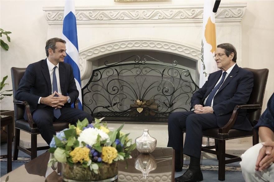 Επικοινωνία Μητσοτάκη-Αναστασιάδη για Κυπριακό, ενέργεια και τουρκική προκλητικότητα