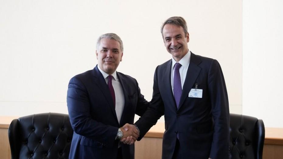 Μεγαλύτερη οικονομική συνεργασία με την Κολομβία θέλει ο Μητσοτάκης