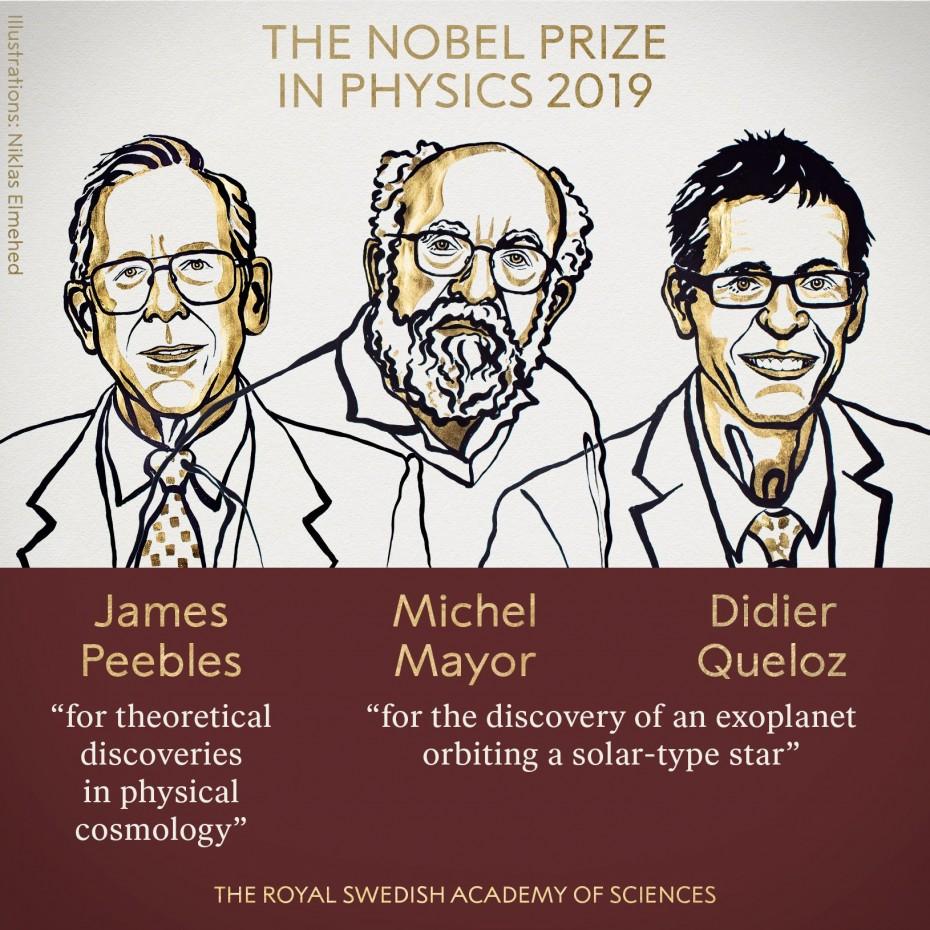 Σε 3 επιστήμονες το Νόμπελ Φυσικής του 2019