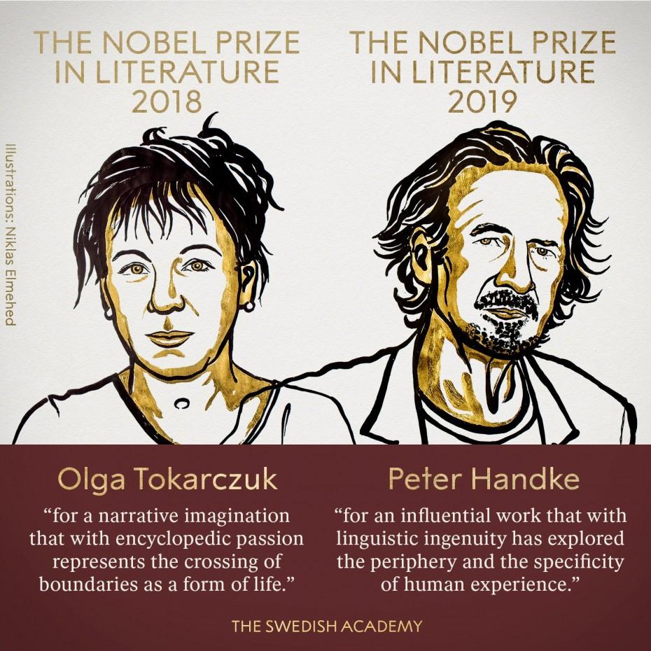 Σε μια Πολωνή και ένα Αυστριακό τα Νόμπελ Λογοτεχνίας 2018 και 2019