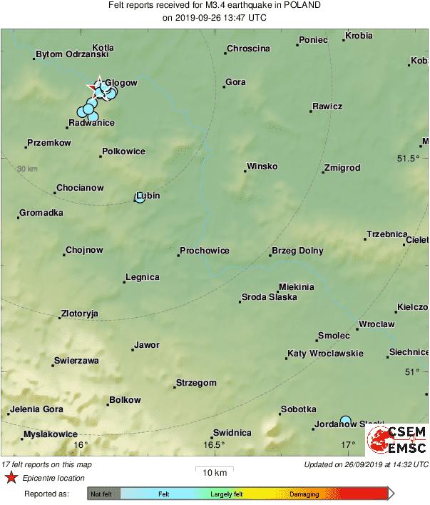 Τουλάχιστον 16 μεταλλεργάτες τραυματίστηκαν από σεισμό στην Πολωνία
