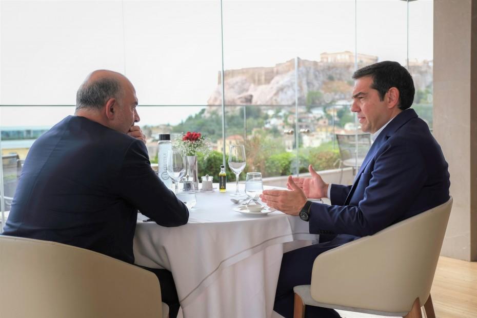 «Ταμείο» από Τσίπρα για τα πεπραγμένα ΣΥΡΙΖΑ, στη συνάντηση με Μοσκοβισί
