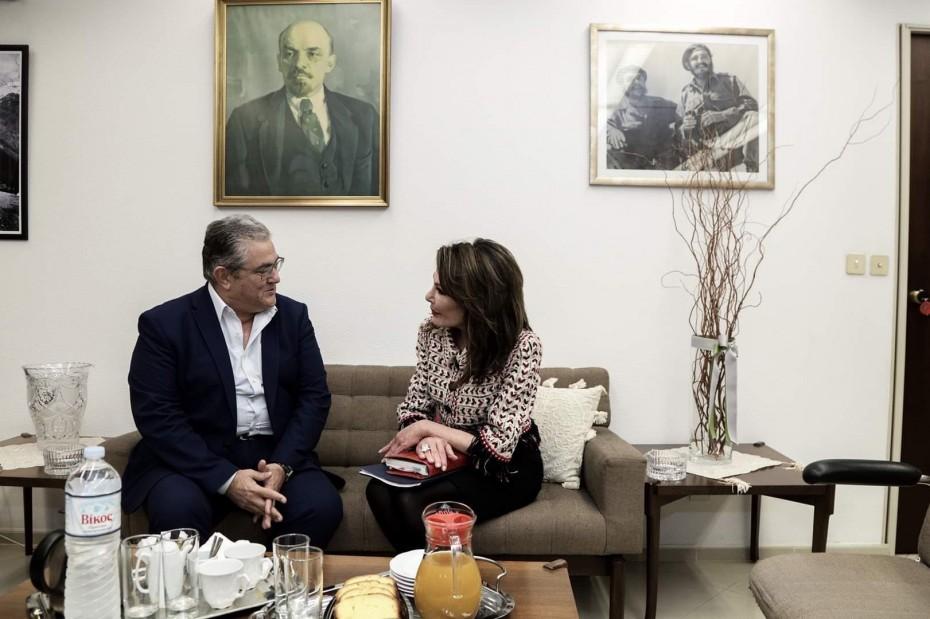 Συνάντηση Κουτσούμπα με Αγγελοπούλου για την «Ελλάδα 2021»
