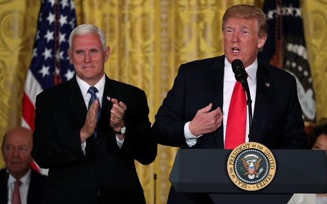 «Πλάτη» Τραμπ στον Πενς για την αντιπροεδρία των ΗΠΑ
