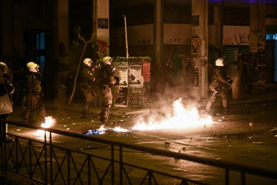 Ζημιές και προσαγωγές στην Αθήνα, για την επέτειο του Γρηγορόπουλου