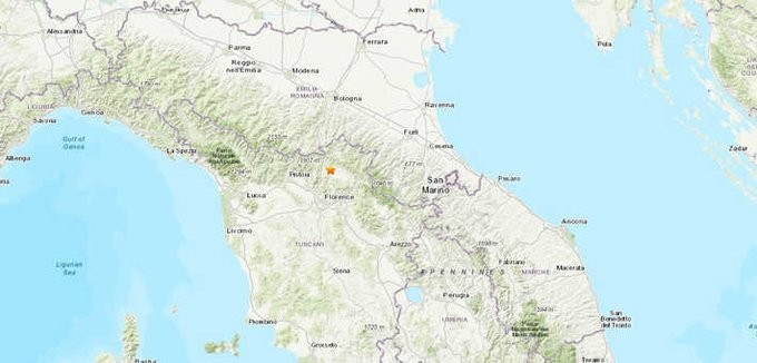 Ιταλία: Ζημιές σε κτήρια από σεισμό 4,5 Ρίχτερ στην Τοσκάνη