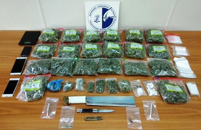 Δύο συλλήψεις στη Νίκαια για κατοχή και διακίνηση ναρκωτικών