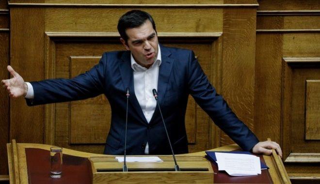 Σε επιθέσεις στη ΝΔ για τα ελληνοτουρκικά εστίασε ο Τσίπρας