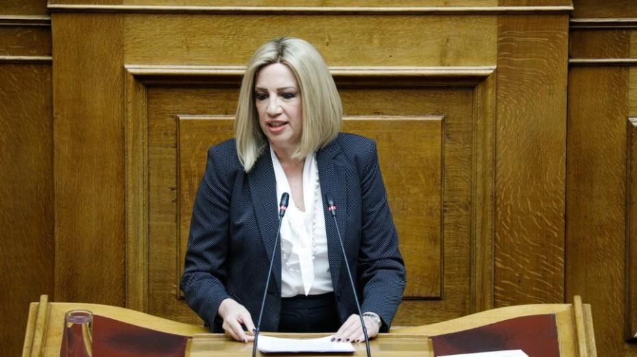 Ο Μητσοτάκης φαντάζεται τζούφιες εκλογές, τόνισε η Γεννηματά