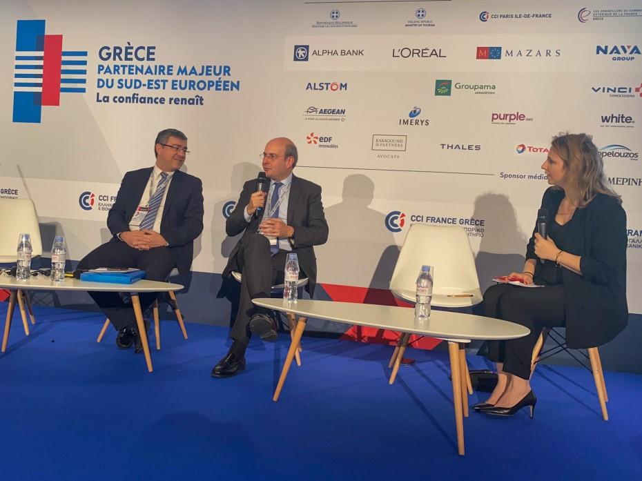 Πρόσκληση Χατζηδάκη σε Γάλλους επενδυτές για τα ενεργειακά στην Ελλάδα