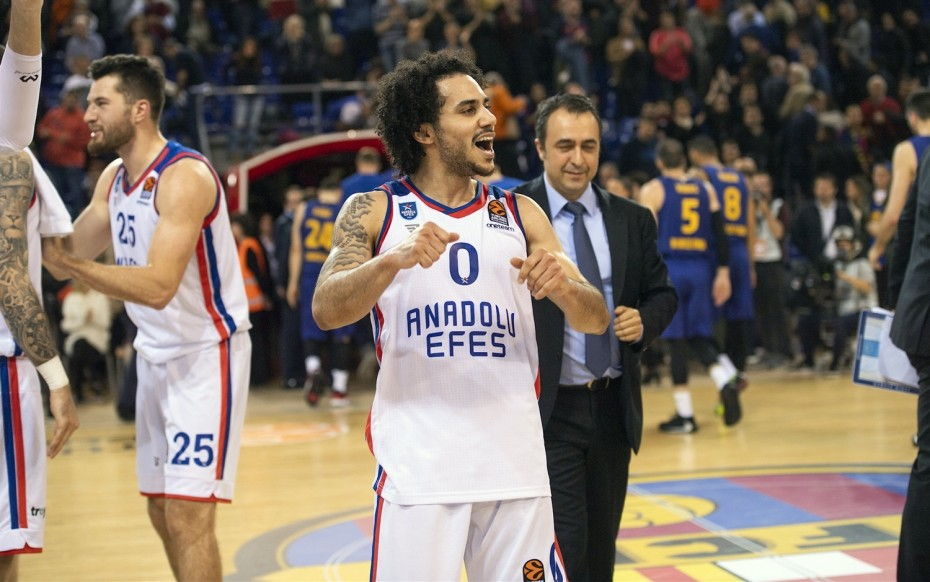 Ο Λάρκιν της Αναντολού MVP της Euroleague τον Ιανουάριο