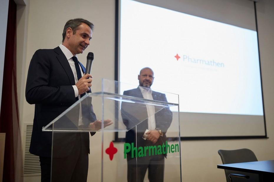Επίσκεψη Μητσοτάκη στις εγκαταστάσεις της Pharmathen στη Ροδόπη
