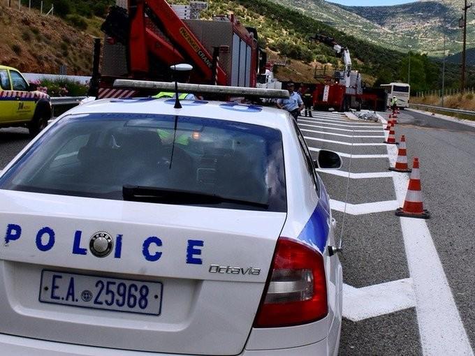 Δύο νεκροί σε τροχαίο στην εθνική οδό Πατρών–Πύργου