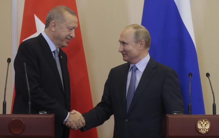 Επικοινωνία Πούτιν με Ερντογάν για τη Συρία