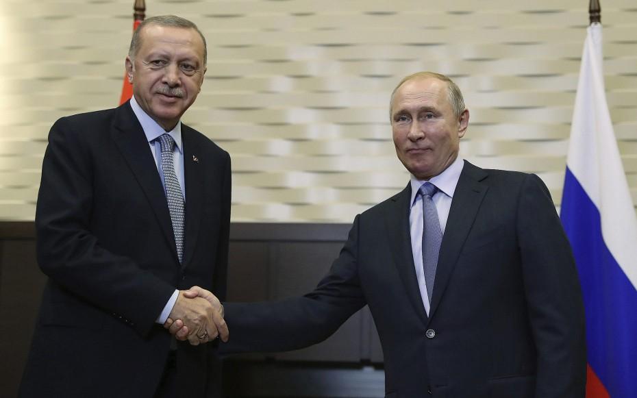 Εντός της Τρίτης επικοινωνία Ερντογάν με Πούτιν για τη Συρία