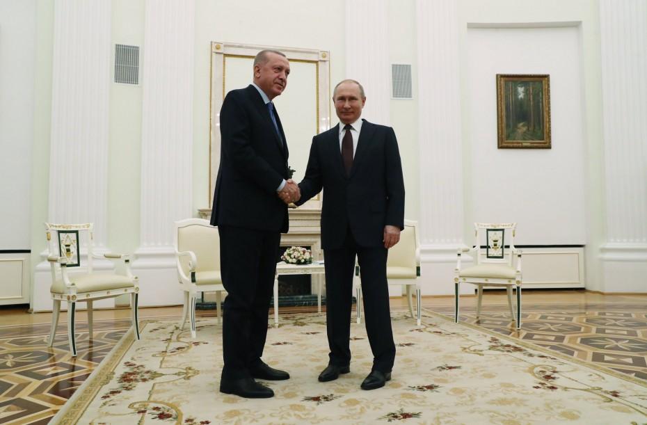 Συμφωνία Ερντογάν - Πούτιν για κατάπαυση του πυρός στην Ιντλίμπ της Συρίας