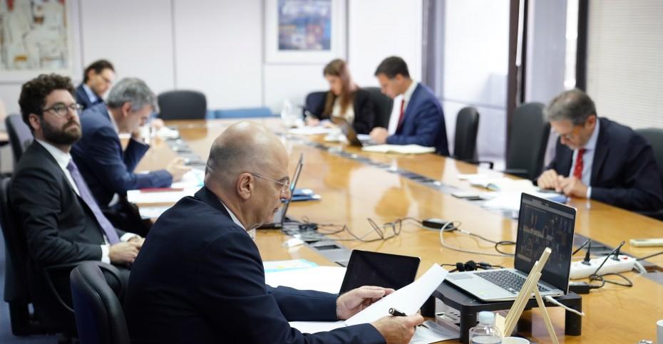 Οι δηλώσεις Δένδια μετά την τηλεδιάσκεψη των Ευρωπαίων ΥΠΕΞ