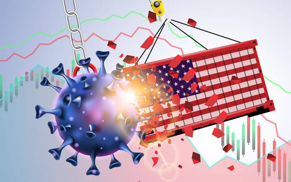 Στο 5% η ύφεση για το ΑΕΠ των ΗΠΑ το α' τρίμηνο του 2020