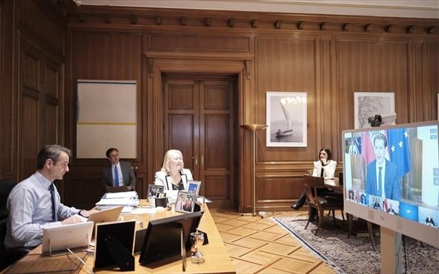 Τηλεδιάσκεψη Μητσοτάκη με τον Αυστριακό Κουρτς την Τετάρτη